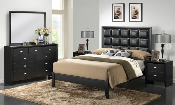 Queen 5 Piece Bedroom Set Groupon Goods
