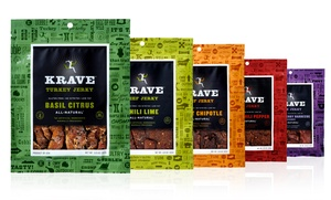 Krave Jerky Variety Pack; 5-Pack of 3.25oz. Bags