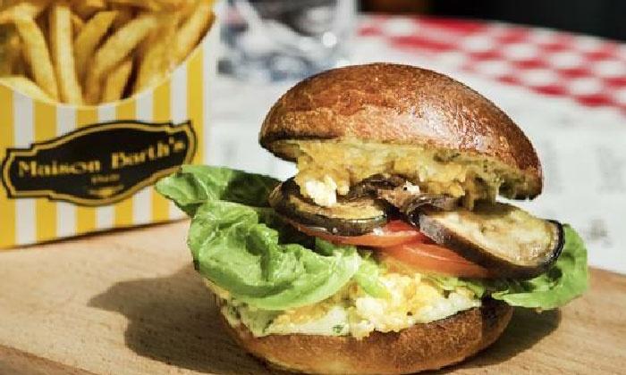 burger végétarien et dessert pour 2 personnes - maison barths