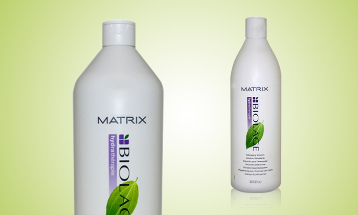Biolage Hydrating Shampoo and Detangling Solution: Biolage Hydrating Shampoo and Detangling Solution; 1 Liter Each