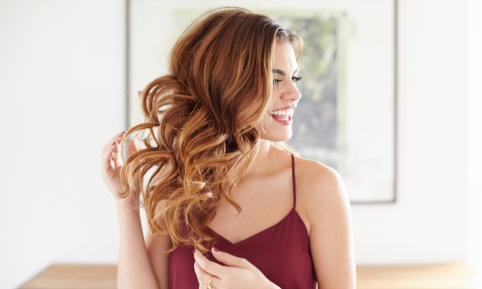 Strut. Spalontique - Colonie: Haircut and Blow-Dry with Partial or Full Highlights or Full Color at Strut. Spalontique (28% Off)