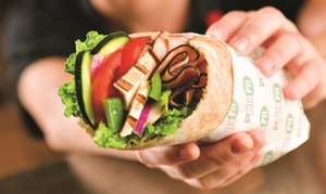Pita Sandwiches at Pita Pit (53% Off). Two Options Available.