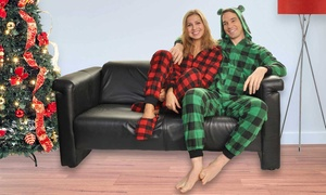 Angelina Family Matching Holiday Fleece Sets or Jumpsuits