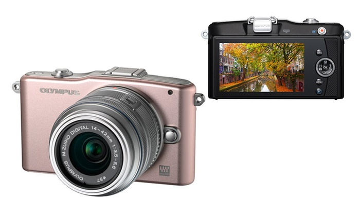 "Olympus PEN E-PM1 12.3MP Interchangeable Camera : Olympus PEN E-PM1 12.3MP Interchangeable Camera with CMOS Sensor, 3"" LCD, and 14–42mm Lens. Free Returns."