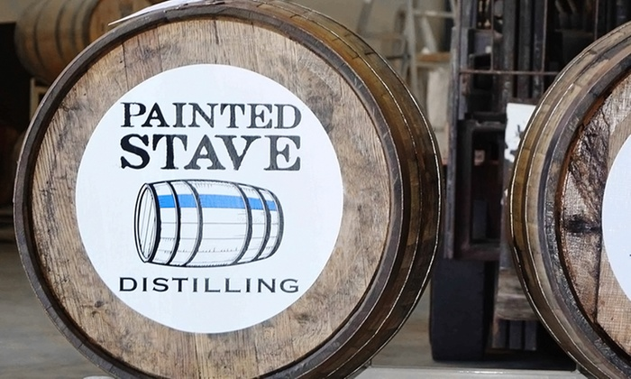 Painted Stave Distilling - Greenspring Farm: Distillery Tour & Tasting for Two or Four with One or Two Bottles of Vodka to Take Home at Painted Stave Distilling
