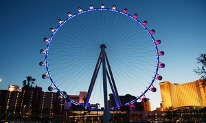 The High Roller at the LINQ: VIP Ride Package for Two with Open Bar Options at The High Roller at the LINQ (Up to 27% Off)
