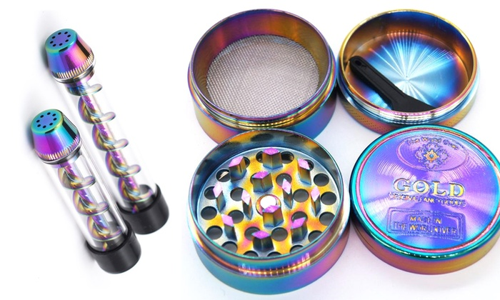 Up To 70% Off on Z-Pipe Pipe and Grinder Set | Groupon Goods