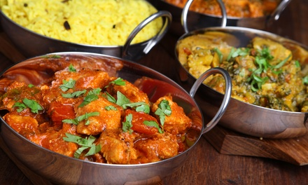 Indian Food for Two or Four People at Tandoor Indian Restaurant (45% Off). Two Options Available.