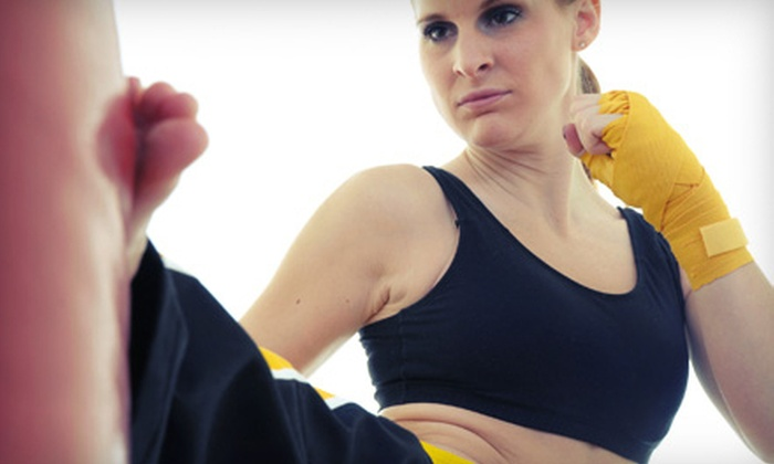 MAX Arts. Athletics. Wellness. - Mount Pearl: Five Women's Kick-Boxing Classes or One Month of Unlimited Classes at MAX Arts. Athletics. Wellness. (53% Off)