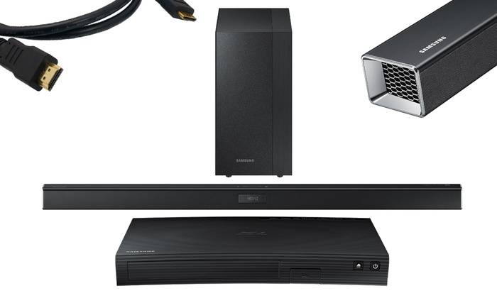Samsung 2 1 Channel Sound Bar System With Smart Blu Ray Player Option