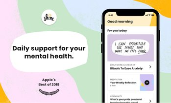 46% Off One-Year Membership with Shine Self-Care Meditation App