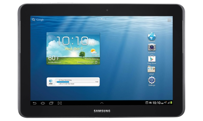 "Samsung Galaxy Tab A "" WiFi Tablet White This Samsung Galaxy Tab A has a large, inch design which is perfect for enjoying your favourite entertainment. It has a full HD display which ensures your games, movies, photos and more look great. Plus, with a powerful processor and WiFi connectivity you'll be able to access everything without worry about lag."