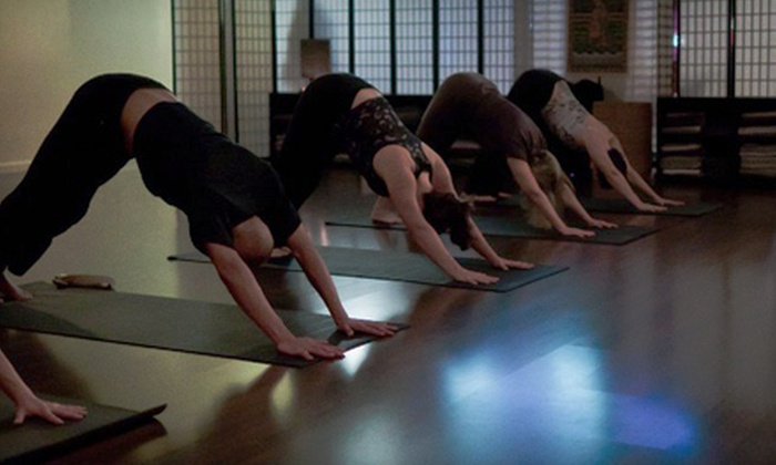 Rise Yoga Studio - Southwestern Sacramento: Five Yoga Classes or One Month of Unlimited Classes at Rise Yoga Studio (Up to 73% Off)