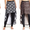 Women's High-Low Printed Skirt Leggings