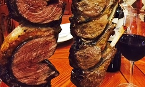 Red & Green Brazilian Steakhouse: Brazilian Meal with Bottles of Wine for Two or Four at Red & Green Brazilian Steakhouse (Up to 53% Off)