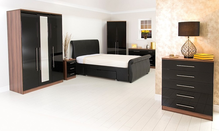 bavaria gloss bedroom furniture groupon goods 10627 | c700x420