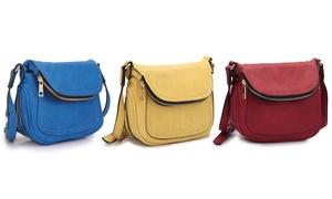MMK Collection Women's Front Flap Crossbody Handbag