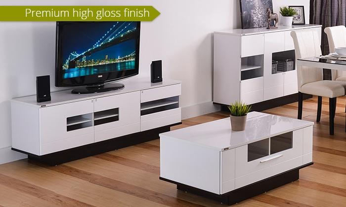 High Gloss Living Room Furniture Groupon