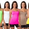 Women's Extra-Long Seamless Camisoles (6-Pack)