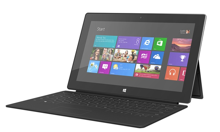 Microsoft Surface 64GB Tablet: Microsoft Surface 64GB Tablet with Black Touch Cover