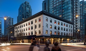 Hip Hotel with Specialty Wine Shop in Vancouver