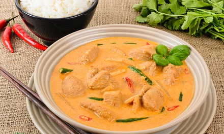 Thai Dish + Drink $8 or 2 People $16 or 2Course Thai Meal + Drink $11 or 2 People $22 at Ace Thai