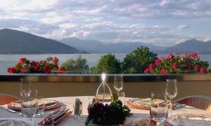 LA VERANDA (RANCO): Menu segnalato Michelin con vino e percorso benessere con massaggio da 30 minuti presso La Veranda (sconto fino a 59%)