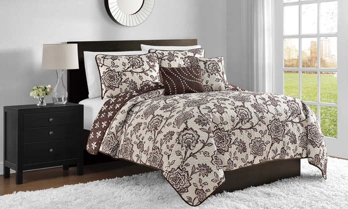 5-Piece Reversible Quilt Sets: 5-Piece Reversible Quilt Sets. Multiple Styles Available. Free Returns.