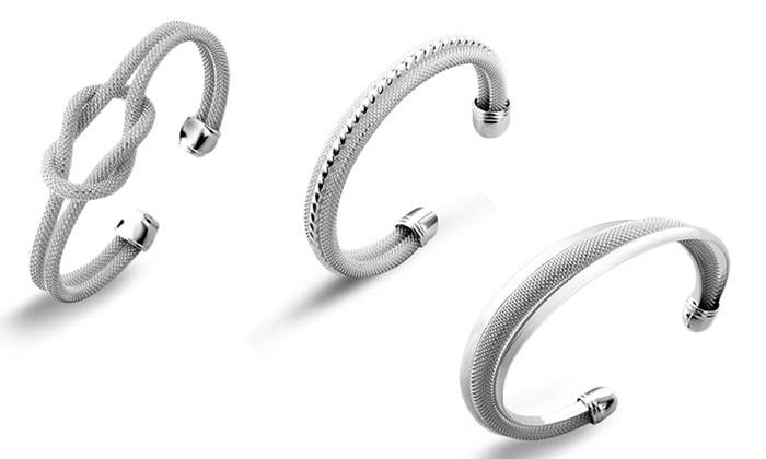 Cate & Chloe Silver Bangle Bracelets: Cate & Chloe Silver Bangle Bracelets. Multiple Styles Available. Free Shipping and Returns.