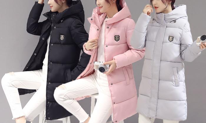 Damen-Mantel mit Kapuze   Groupon aac4ac4ac6