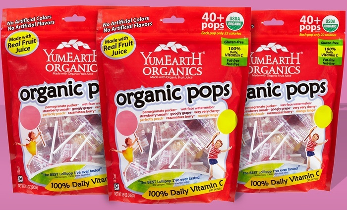 Three 40-Packs of YumEarth Organic Fruit Pops: Three 40-Packs of YumEarth Organic Fruit Pops