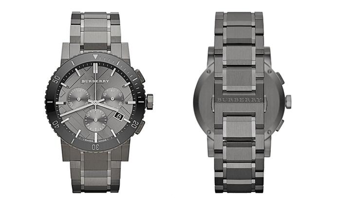 burberry gunmetal watch