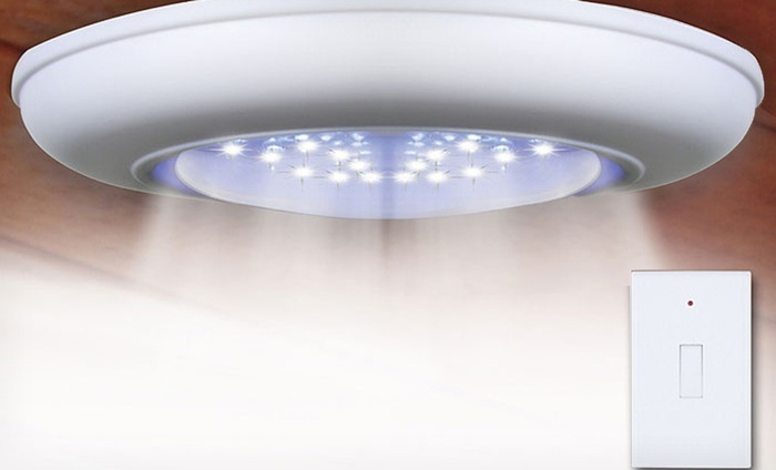 Cordless Ceiling and Wall Light with Remote Control: One or Two Cordless Ceiling and Wall Lights with Remote Control. Free Returns.