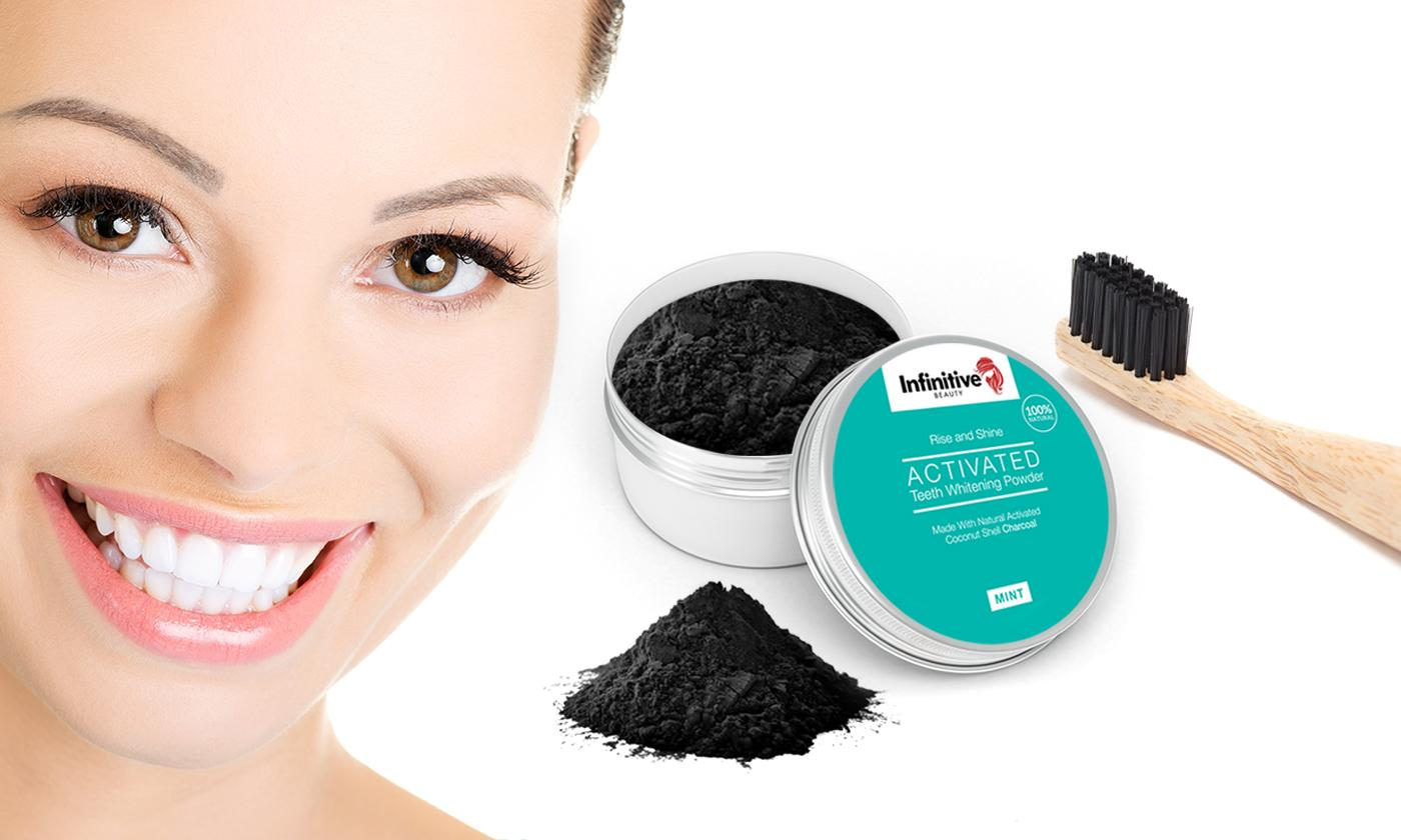 Up to Six Infinitive Beauty Teeth Whitening Activated Charcoal Powders