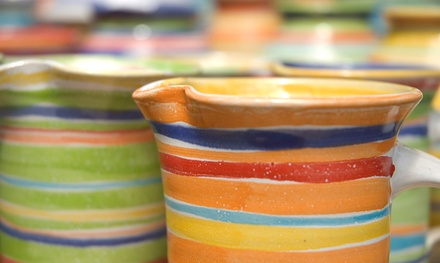 5 or 12 Pottery-Panting Sessions at Clay Casa (Up to 83% Off). Four Options Available.