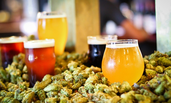 B.O.B.'s Brewery - Heartside-Downtown: Beer Tasting for Two, Four, or Six with To-Go Growlers at B.O.B.'s Brewery (Up to 51% Off)