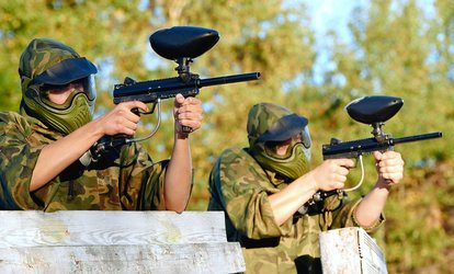 image for All-Day <strong>Paintball</strong> with Gear Rental and Ammo for One, Four, or Eight at Fox 4 <strong>Paintball</strong> (Up to 57% Off)