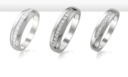 Diamond Wedding Bands by Aurora Diamond Collection. Multiple Styles Available from $499.99–$1,199.99.