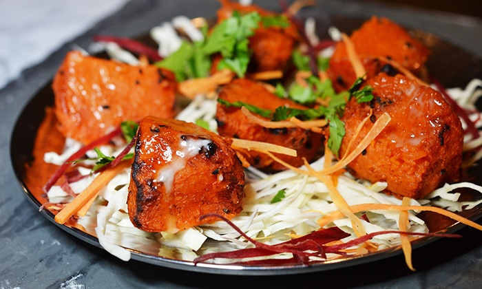 Raasa - Elmsford: Indian Lunch Buffet with Lassis or Sodas for Two or Four or Dinner for Two with Wine at Raasa (Up to 51% Off)