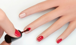 Finest Nails: Basic Mani-Pedi or Acrylic Nail Set at Finest Nails (Up to 43% Off)