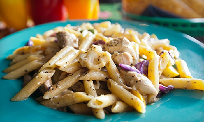 Rasta Pasta - Downtown Colorado Springs: Caribbean-Italian Cuisine for Lunch or Dinner at Rasta Pasta (Half Off)