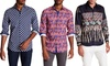 Suslo Couture Men's Printed Button-Down Shirt