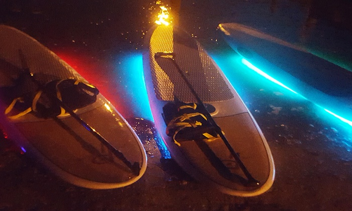 Pure Island Tours - JB's Fish Camp: Up to 50% Off Light N Up LED Sunset or Daytime Paddleboard Tour at Pure Island Tours