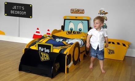 Kidsaw JCB My 1st JCBSpielzeugkiste, Matratze, Nachttisch, Behälter, Schreibtisch mit Stuhl oder Bett für Kinderzimmer  (29,99 €)