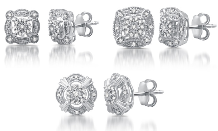 21734f9cd38 Up To 70% Off on Diamond Vintage Style Studs | Groupon Goods