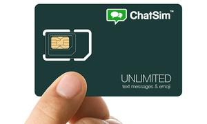 ChatSim: 1 an de SMS illimités et appels vers l'étranger jusqu'à -50% avec ChatSim