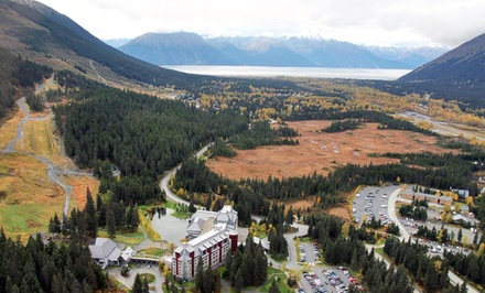 groupon daily deal - 1- or 2-Night Stay for Two in a Deluxe King or Double Room at The Hotel Alyeska in Girdwood, AK