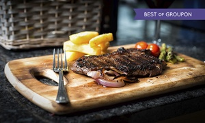 Carnegie Court Hotel: Steak Dinner with Sides and Wine for Two or Four at the Harp Bar, Swords (Up to 50% Off)