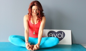 Evolution Yoga: 10 or 20 Yoga, Pilates, or Other Fitness Classes at Evolution Yoga (Up to 80% Off)