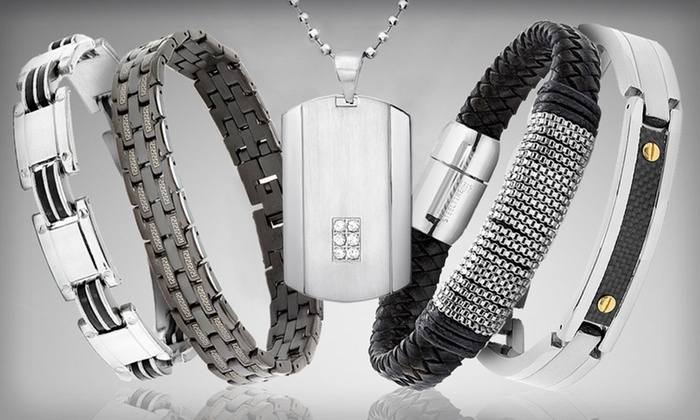Men's Stainless-Steel Accessories: Men's Stainless-Steel Jewelry (Up to 86% Off). 27 Styles Available. Free Returns.